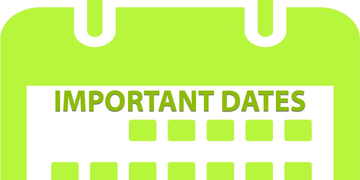 Important Dates Calendar Image